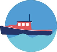 icon of a fishing boat
