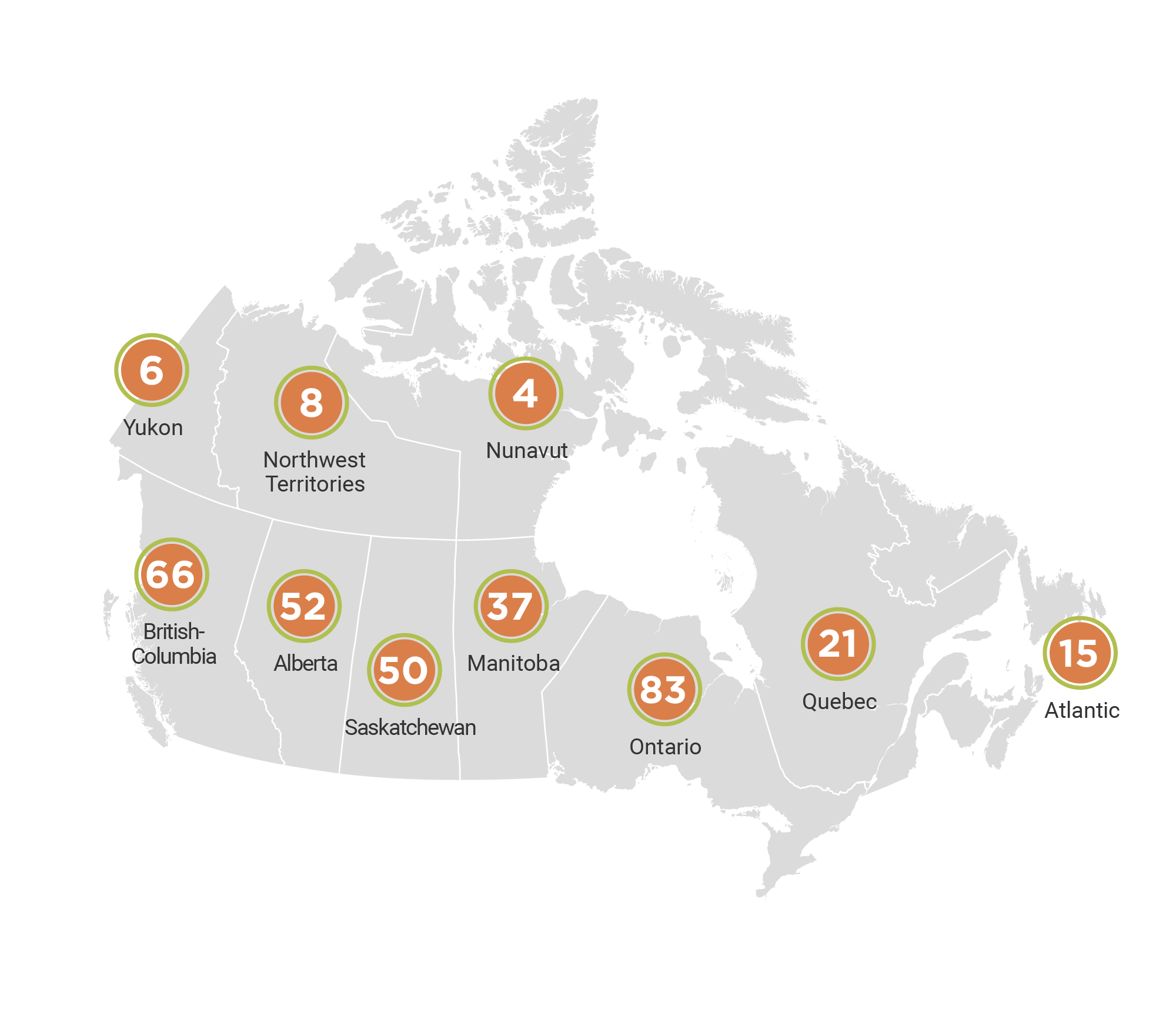 indigenous homes innovation initiative selected applications map by region
